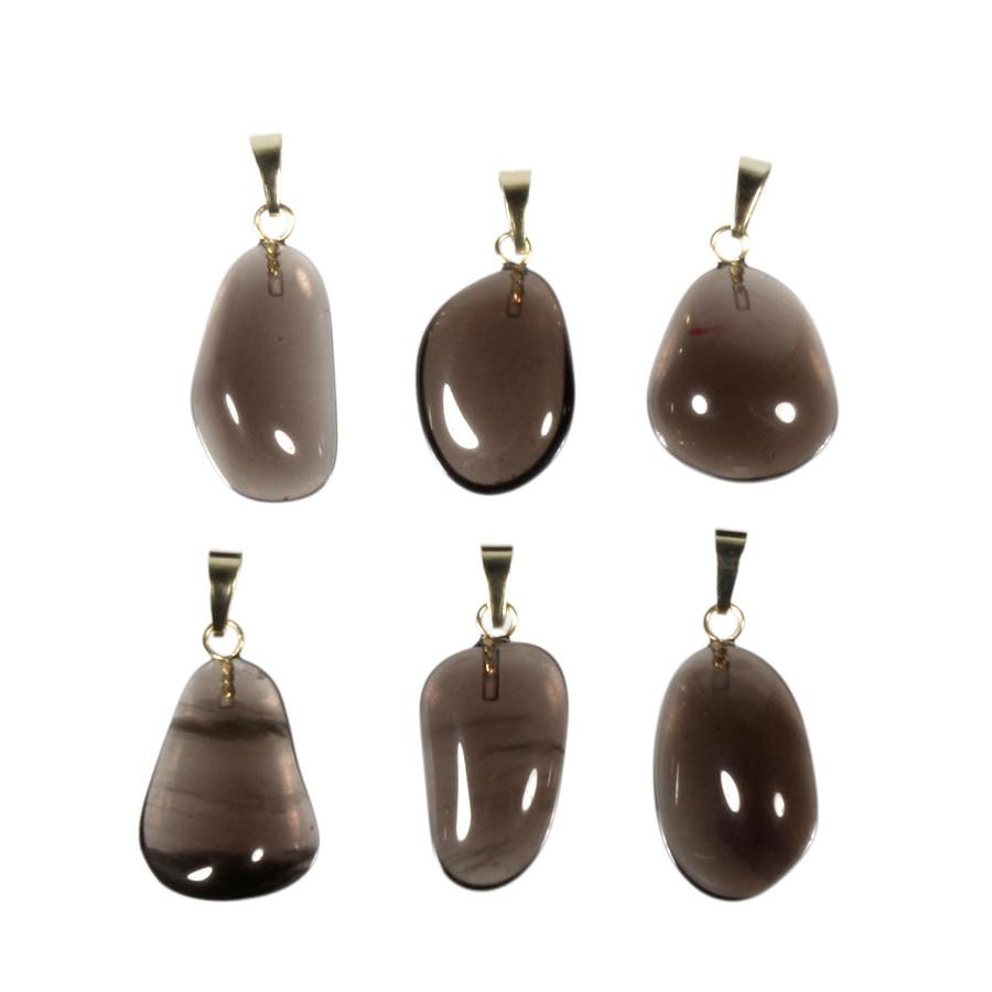 Obsidiaan (apachetranen) hanger met 14k gouden oogje