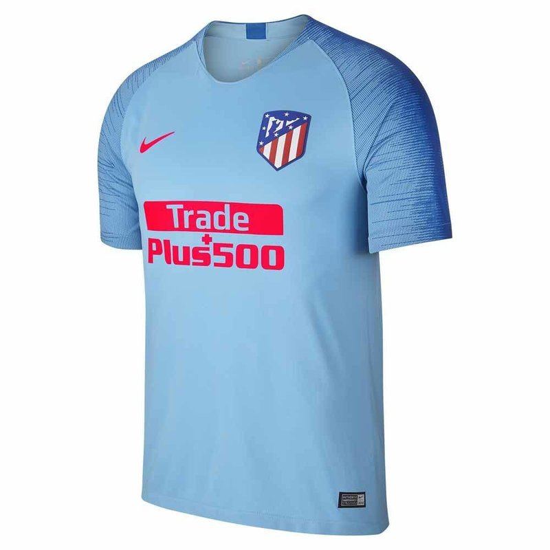 Atletico Madrid Breathe Stadium Uitshirt 2018-2019 Blue Gale / Blue