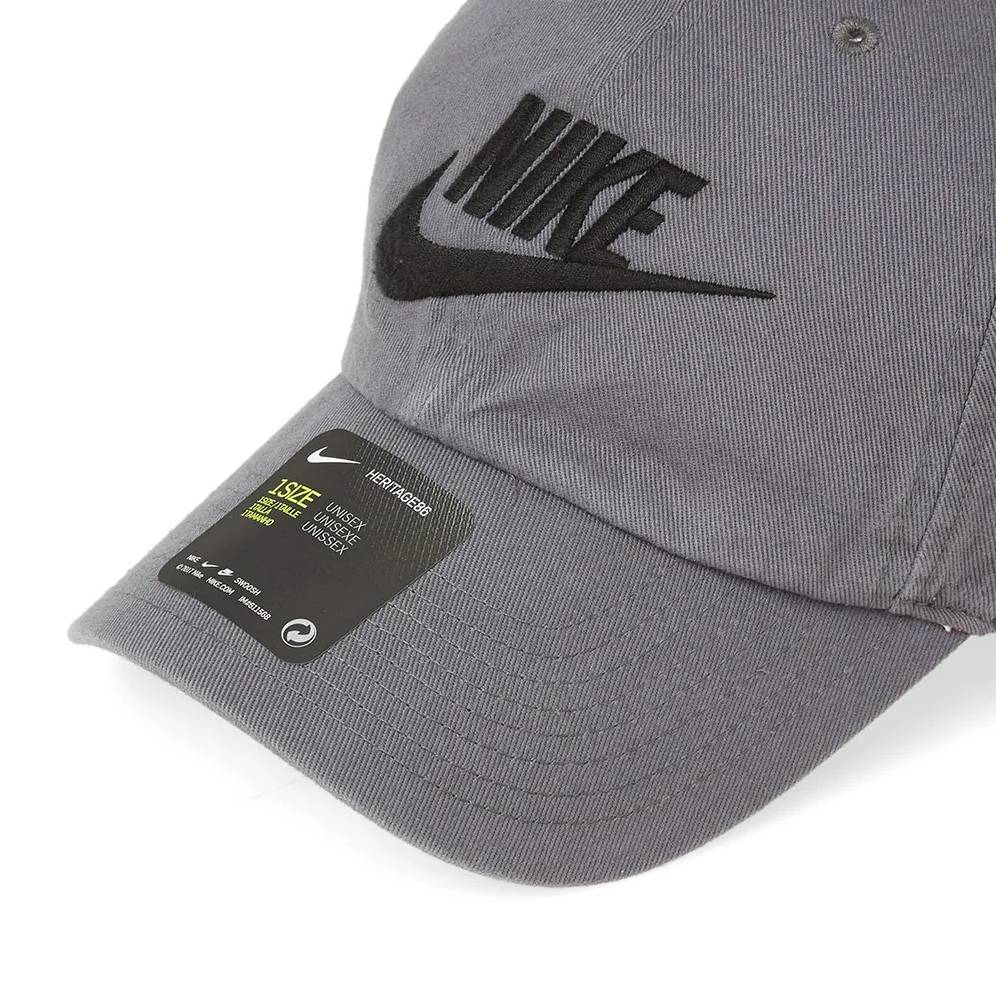 Futura Washed H86 Cap Dark Grey / Black