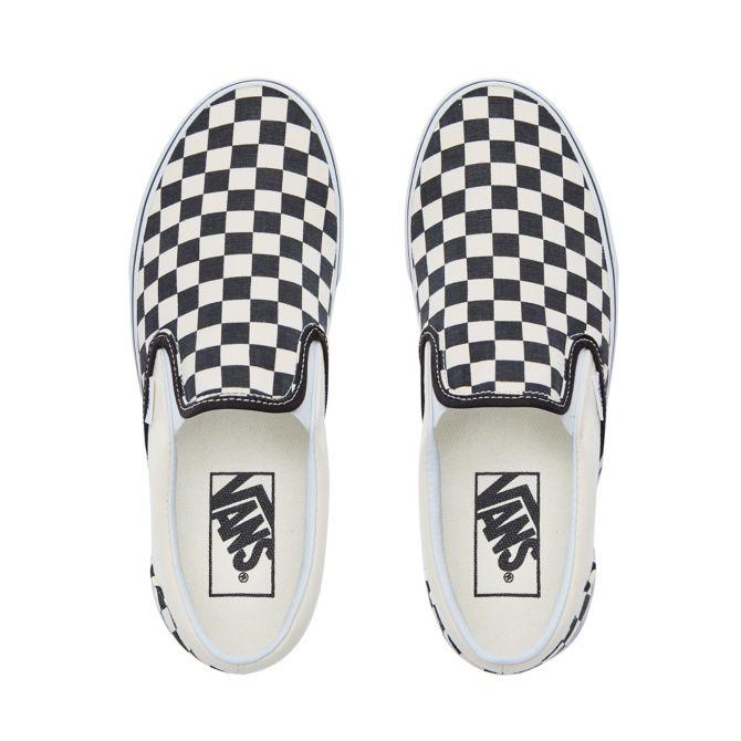 Checkerboard Classic Slip-On Zwart / Wit