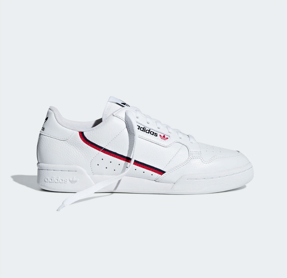 Continental 80 White / Scarlet / Collegiate Navy
