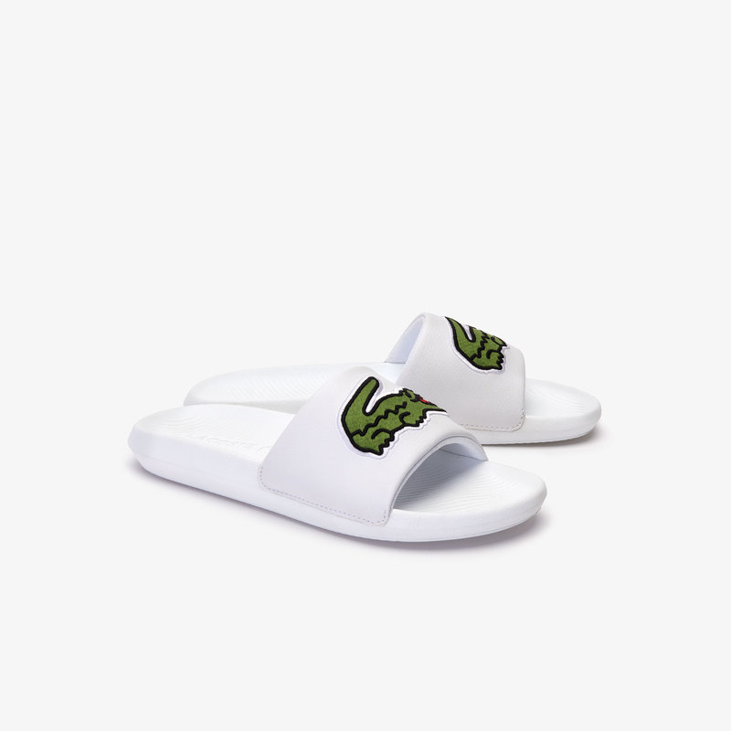 Croco Slide Wit / Groen