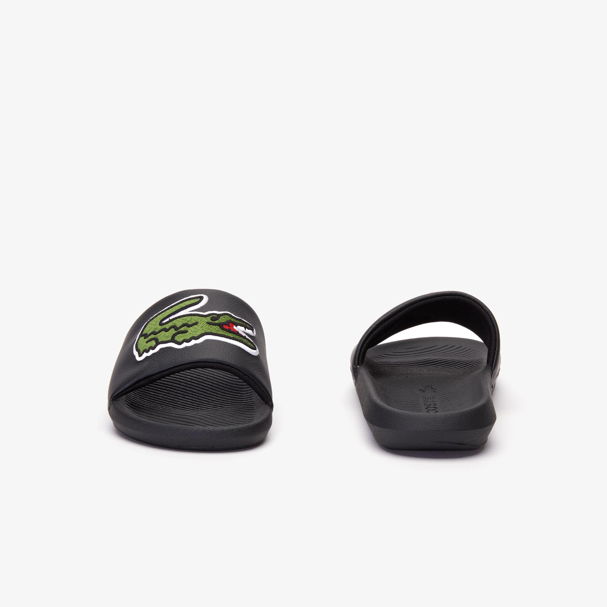 Croco Slide Zwart / Groen