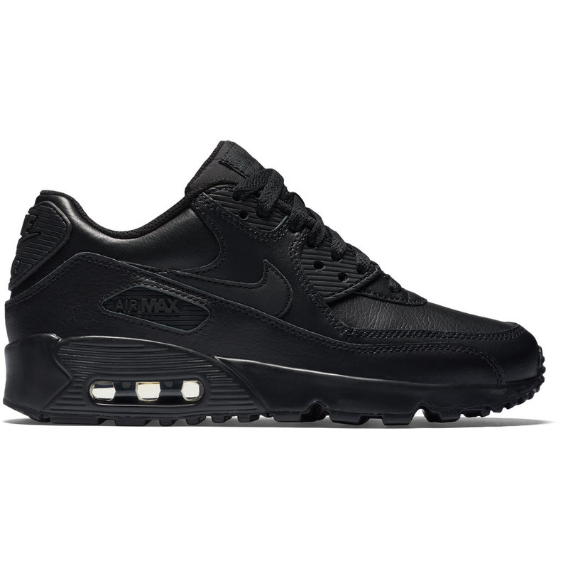 Nike Air Max 90 Leather GS Zwart Kinder Sneaker 833412 001