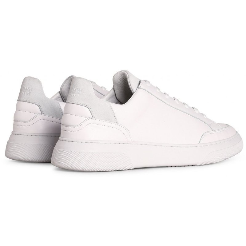 Off Court - White Leather / White Suede