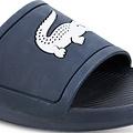 Croco Slide Blauw / Wit
