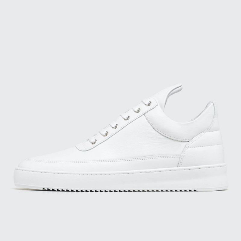 Low Top Ripple Nappa All White