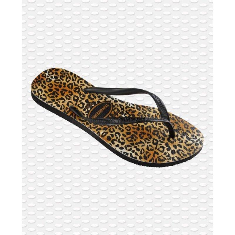 Slim Leopard Zwart / Zwart