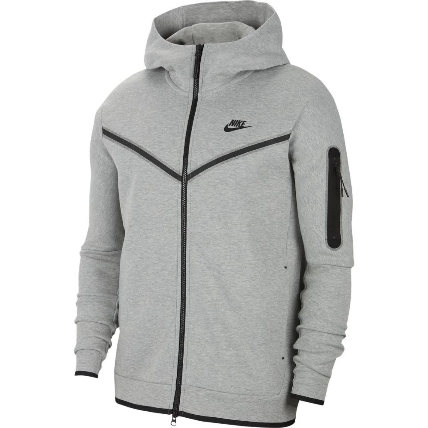 Nike Tech Fleece Hoodie Full Zip Grijs