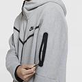 Tech Fleece Hoodie Full Zip Grijs