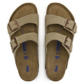 Arizona Suede Taupe Smal Voetbed