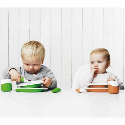 Toddler Copenhagen blauwe oefenbeker voor baby