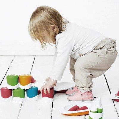 Toddler Copenhagen oranje oefenbeker voor baby
