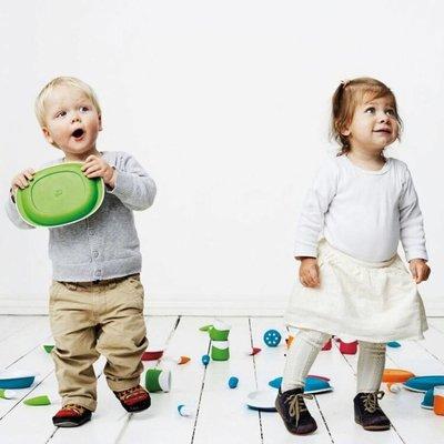 Toddler Copenhagen grüner Teller
