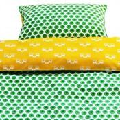 Blafre Design groen/geel dekbedovertrek baby bloem/hert
