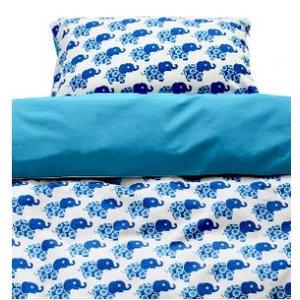 Blafre Design ledikant dekbedovertrek 2-zijdig blauwe olifant