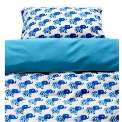 Blafre Design Bettdecke Bettbezug mit blauem Elefanten