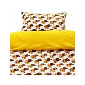Blafre Design Baby Bettbezug Elefant gelb / braun