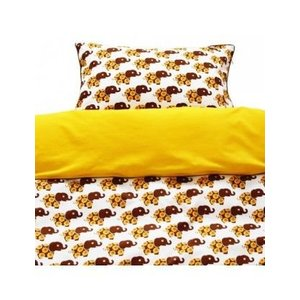 Blafre Design baby duvet cover elephant yellow / brown