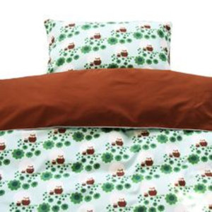 Blafre Design 1 person duvet set owl two-sided