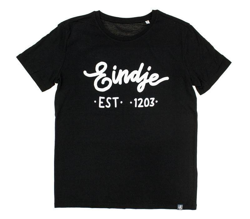 Eindje T-shirt Tekst Zwart