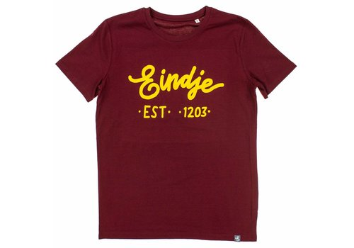 Eindje Eindje T-shirt Tekst Burgundy