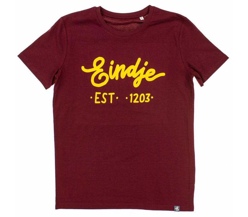 Eindje T-shirt Tekst Burgundy