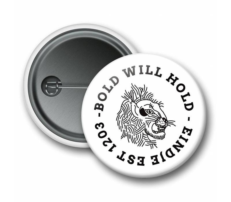 Eindje Button Bold Leeuw Wit