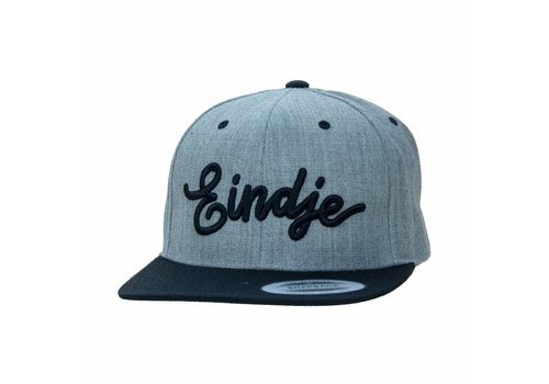 Eindje Eindje Snapback 3D Black Cap Heather Grey