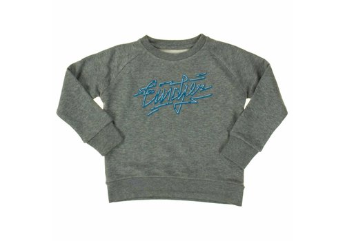 Eindje Eindje Neon Logo Kids Sweater Heather Grey