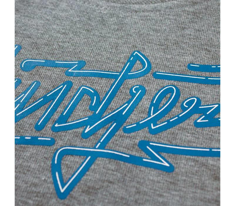 Eindje Neon Logo Kinder Sweater Heather Grey