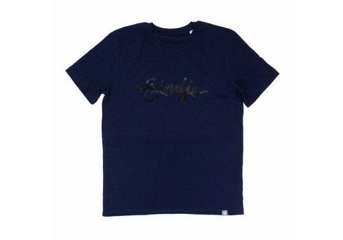 Eindje Eindje HD Logo T-shirt Black Heather Blue