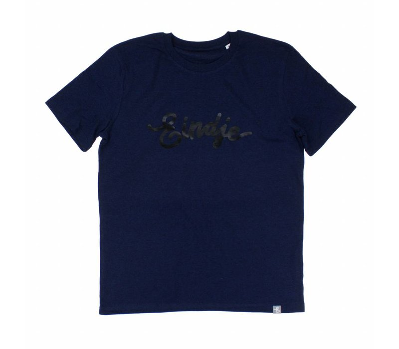 Eindje HD Logo T-shirt Black Heather Blue