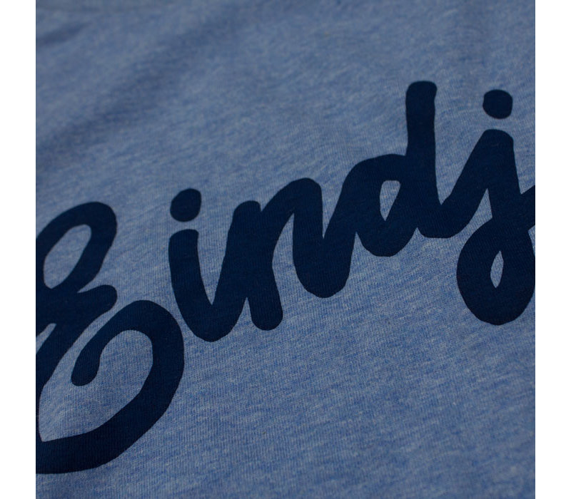 Eindje T-shirt Text Mid Heather Blue
