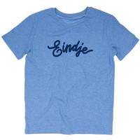 Eindje T-shirt Tekst  Mid Heather Blauw