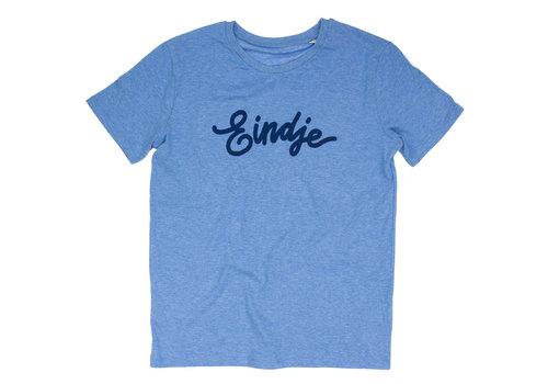 Eindje Eindje T-shirt Tekst  Mid Heather Blauw