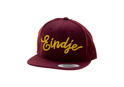 Eindje Eindje Snapback 3D Golden Yellow Cap Burgundy