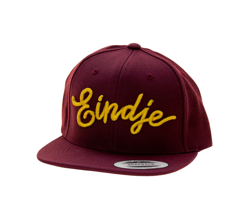 Eindje Snapback 3D Golden Yellow Cap Burgundy