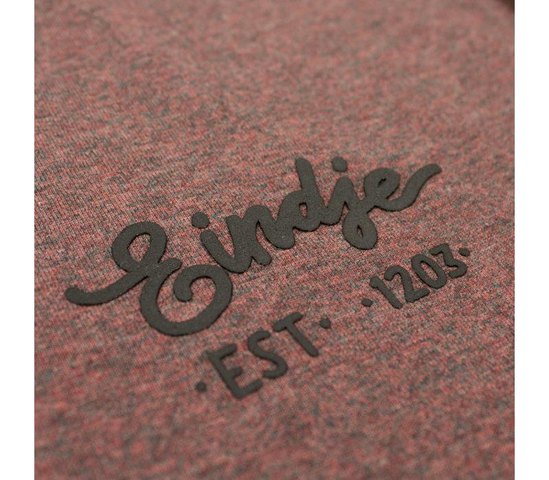 Eindje HD Logo T-shirt Black Heather Cranberry