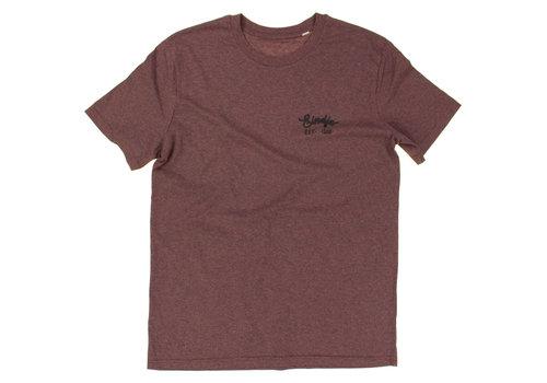 Eindje Eindje HD Logo T-shirt Black Heather Cranberry