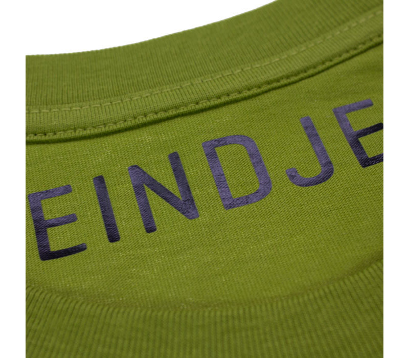 Eindje Lets's Go South Crewneck T-shirt | Moss Green