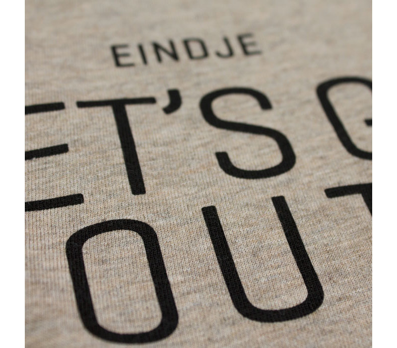 Eindje Let's Go Rabbit Foot Crewneck T-shirt | Heather Sand