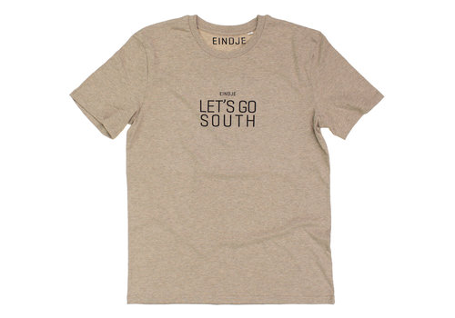 Eindje Eindje Let's Go Rabbit Foot Crewneck T-shirt | Heather Sand