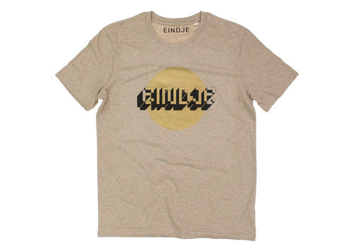 Eindje Eindje Gold Dot Crewneck T-shirt  | Heather Sand