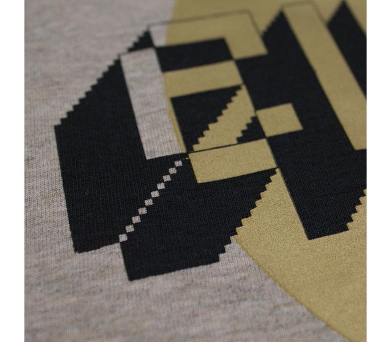 Eindje Gold Dot Crewneck T-shirt  | Heather Sand