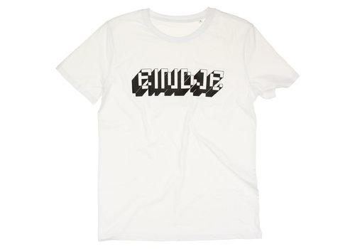 Eindje Eindje Pixel Logo  T-shirt | White