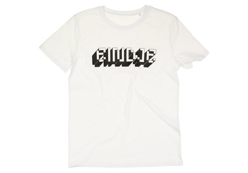 Eindje Eindje Pixel Logo  T-shirt | Wit