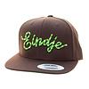 Eindje Eindje Snapback 3D Serpent Green logo / Cap Choco Brown