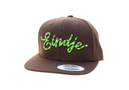 Eindje Eindje Snapback 3D Serpent Green logo / Cap Choco Brown