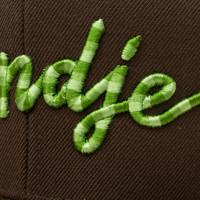 Eindje Snapback 3D Serpent Green logo / Cap Choco Brown